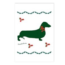 Christmas Dachshund Postcards (Package of 8)