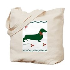 Christmas Dachshund Tote Bag