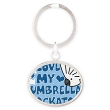 animelove_umbrella Oval Keychain