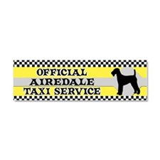 airedale_taxi_bumper Car Magnet 10 x 3