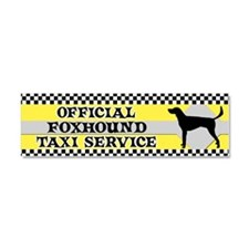 amfoxhound_taxi_bumper Car Magnet 10 x 3
