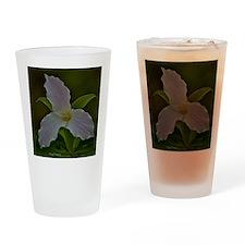 Pink Trillium Drinking Glass