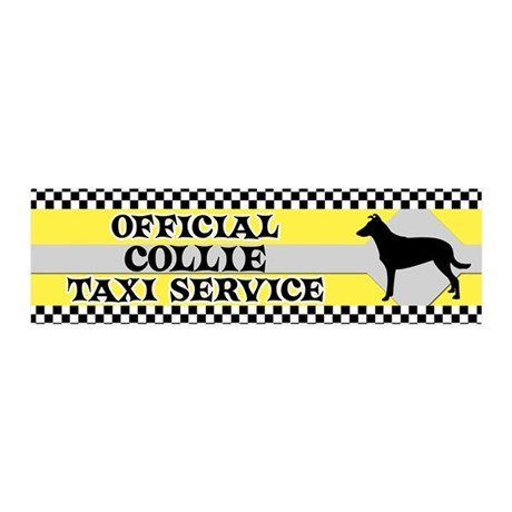 collie_sm_taxi_bumper 20x6 Wall Decal