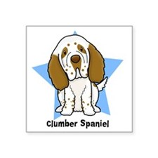 "star_clumber Square Sticker 3"" x 3"""