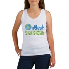 Earths Best Statistician Women's Tank Top