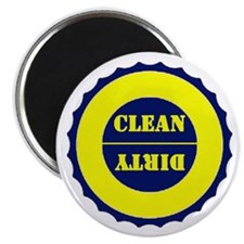 "Blue and Yellow Clean Dirty 2.25"" Magnet (100 pack"