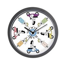 scootergirl-ring-ver2-circle Wall Clock