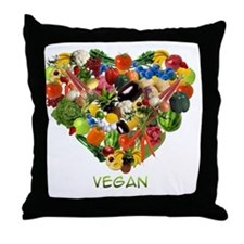 vegan-white Throw Pillow