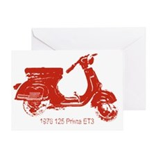 3-vespa-125-prima-red Greeting Card