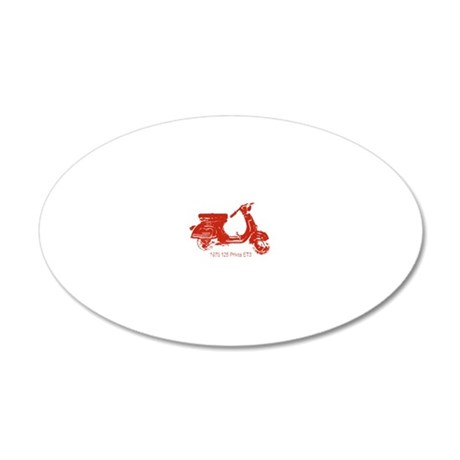 3-vespa-125-prima-red 20x12 Oval Wall Decal