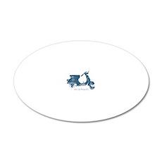 3-vespa-125-prima-blue 20x12 Oval Wall Decal
