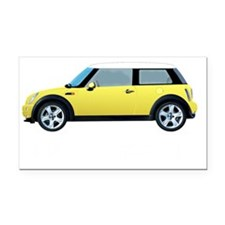 3-yellow-mini-drive-black Rectangle Car Magnet