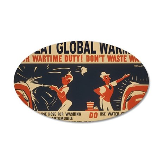 3f05375u-wastewater2 35x21 Oval Wall Decal