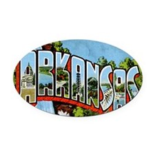 arkansas Oval Car Magnet