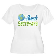 Earths Best Secretary T-Shirt