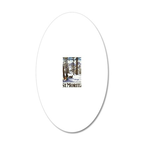 071 20x12 Oval Wall Decal