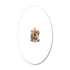 maine-shield 20x12 Oval Wall Decal