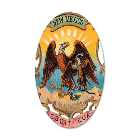 new-mexico-shield 35x21 Oval Wall Decal