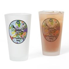 b-17map-round Drinking Glass
