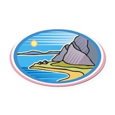 beach-4 Oval Car Magnet