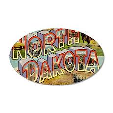 north-dakota 35x21 Oval Wall Decal