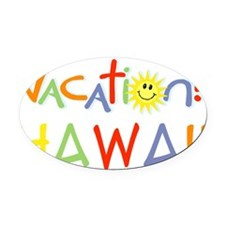 vacation-hawaii Oval Car Magnet