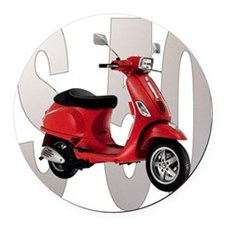 Red-S-50 Round Car Magnet