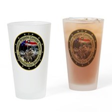supporting our strykers Drinking Glass