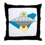 Cool UFO Throw Pillow