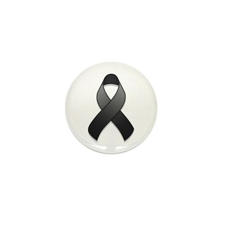Black Awareness Ribbon Mini Button