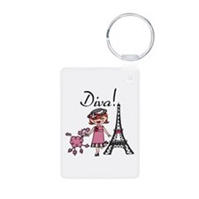 Red Haired Diva Keychains