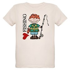 Redhead Boy Love Fishing T-Shirt