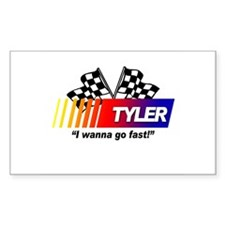 Racing - Tyler Rectangle Decal