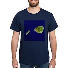 Kaua`i & Ni`ihau Landsat T-Shirt