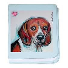 Beagle love smile baby blanket