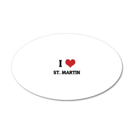 ST. MARTIN 20x12 Oval Wall Decal