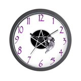 Cute Broom Wall Clock