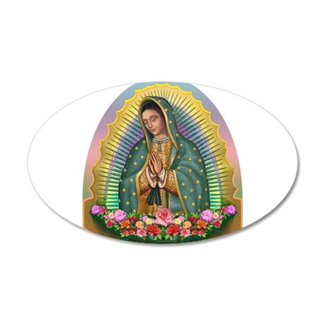 Guadalupe Yellow Aura 20x12 Oval Wall Decal