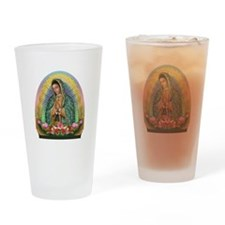 Guadalupe Yellow Aura Drinking Glass