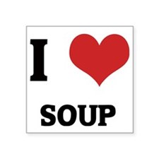 "SOUP Square Sticker 3"" x 3"""