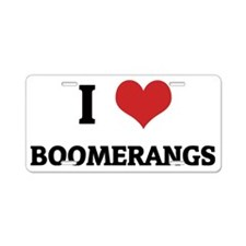 BOOMERANGS Aluminum License Plate