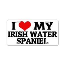 IRISH WATER SPANIEL Aluminum License Plate