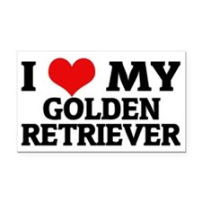 GOLDEN RETRIEVER Rectangle Car Magnet