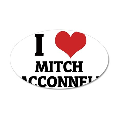 MITCH MCCONNELL 35x21 Oval Wall Decal
