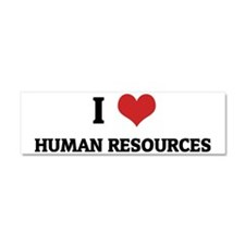 HUMAN RESOURCES Car Magnet 10 x 3
