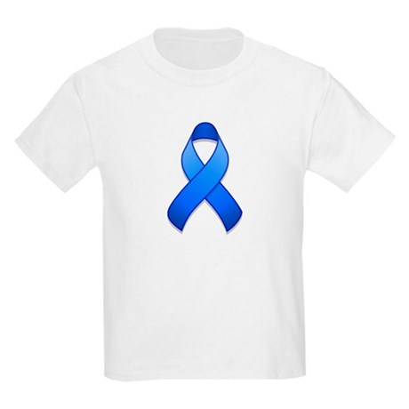 Blue Awareness Ribbon Kids Light T-Shirt