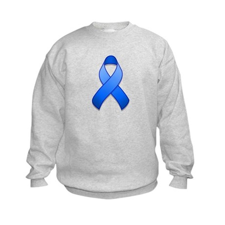 Blue Awareness Ribbon Kids Sweatshirt