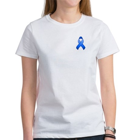 Blue Awareness Ribbon Women's T-Shirt
