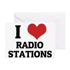 RADIO STATIONS Greeting Card