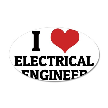 ELECTRICAL ENGINEER 35x21 Oval Wall Decal